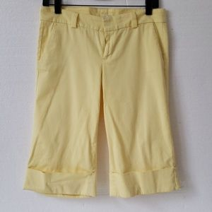 Lilly Pulitzer Yellow Capri Pants